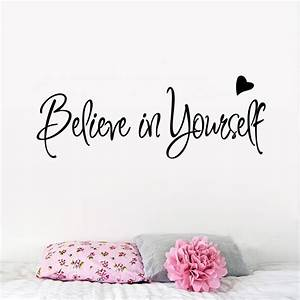 Believe in yourself home decor creative Inspiring quote ...