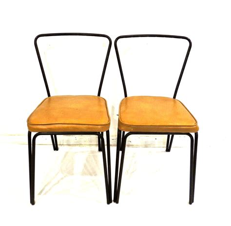 vintage mid century kitchen chairs 1950s 60s black by mkmack