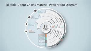 Editable Donut Charts Material Powerpoint Diagram