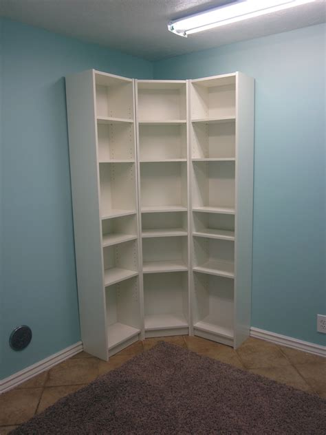 White Corner Bookcases Image Yvotubecom
