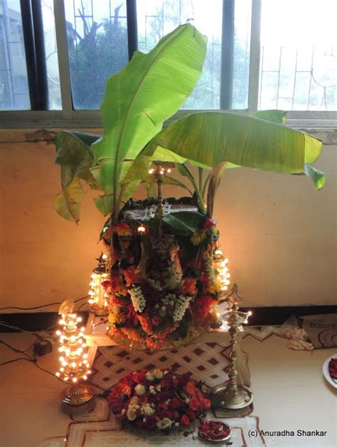 Varalakshmi Vratham Decoration Ideas With Coconut by A Wandering Mind Varalakshmi Vratham 2012 A Memorable