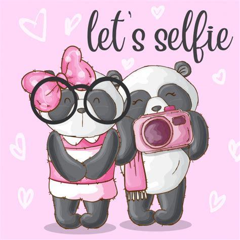 Tribal/ethnic vector animal illustrations, colorful designs, fully editable. Cute panda animal couple-vector   Premium Vector