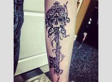 Creative Skeleton Key Tattoo #SkeletonKey #KeyTattoo #