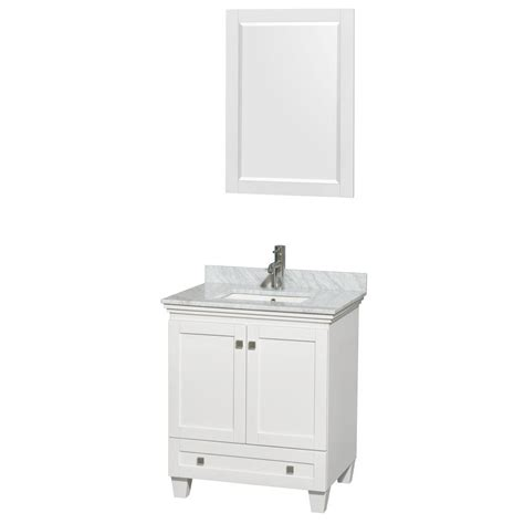 Wyndham Collection Acclaim 30 in Vanity in White with