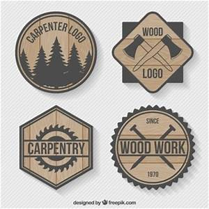 Pack of carpentry logos Vector Free Download