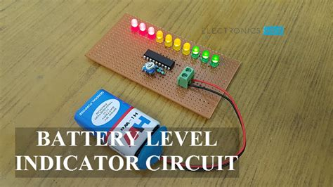 battery level indicator circuit  lm