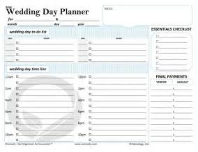 Free Printable Wedding Day Timeline