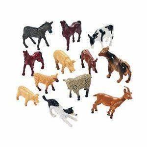 Amazon.com: 12 Farm Animal Miniature Toy Figures: Toys & Games