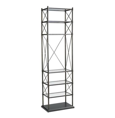 Rubbed Bronze Etagere by Everton Rubbed Bronze Contemporary Etagere Display