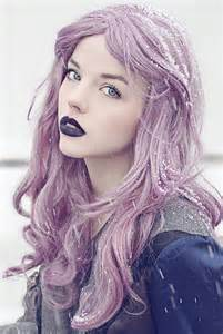 viola hair extensions lavender hair copy it manic panic lipstick