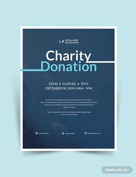 designs  donation flyers  ms word psd ai
