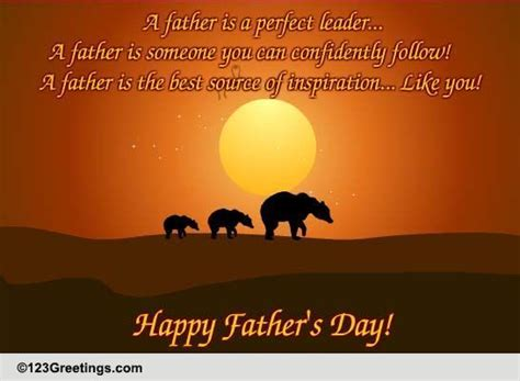 father   leader  special dad ecards greeting