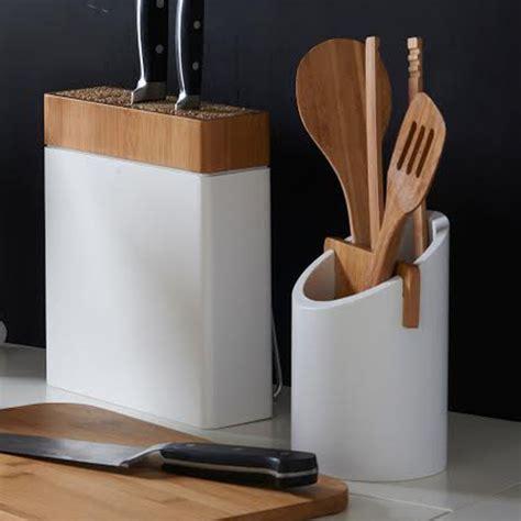 pot ustensiles cuisine pot à ustensiles en bambou blanc connect typhoon decoração bambou pots et