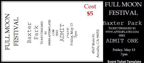 ticket template word 2 event ticket templates free word templates