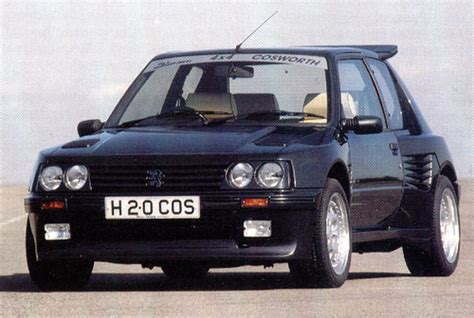 peugeot 4x4 cars peugeot 205 dimma 4x4 cosworth from a car magazine