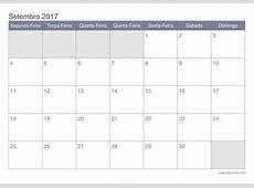 Calendário setembro 2017 para imprimir iCalendáriobrcom