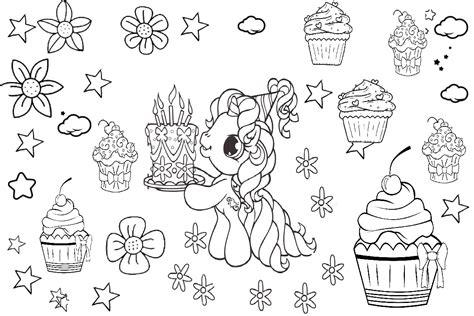 unicorn coloring pages unicorn birthday cake printable