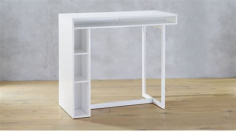 """public white 42"""" high dining table   Reviews   CB2"""