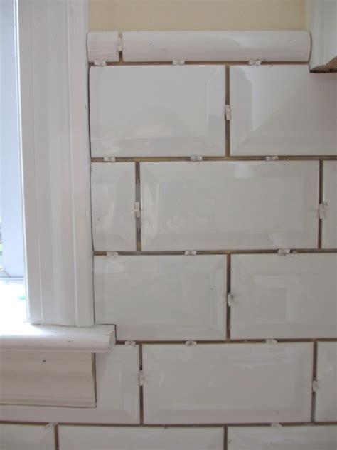 Tiling Backsplash {Beveled Subway Tile} ? Two Delighted