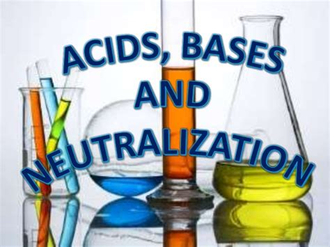 Acids, Bases And Neutralization
