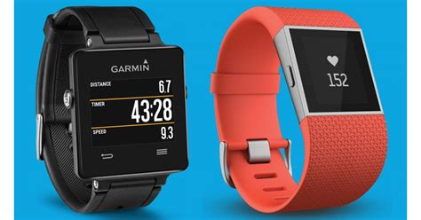 fitbit surge  garmin vivoactive sporty smartwatch showdown