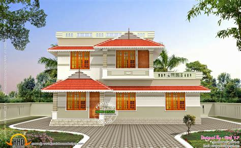 kerala style  cost double storied home kerala home design  floor plans