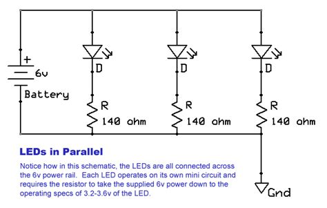 Wiring Led In Parallel by Wiring Leds Techdose