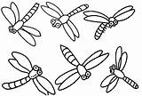 Coloring Pages Dragonflies Print sketch template