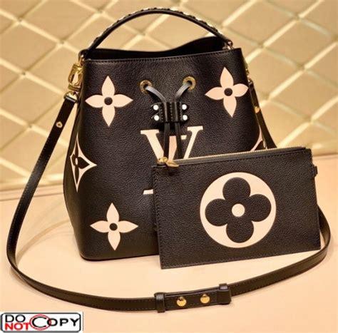 louis vuitton lv crafty neonoe mm bucket bag braided top handle  black