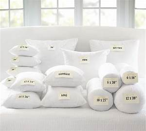 Feather pillow insert pottery barn for Best euro pillow inserts