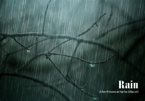 20 Rain PS Brushes abr vol.6 - Free Photoshop Brushes at