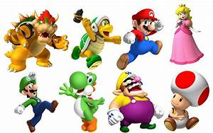 Super Mario Bros 8 Characters Set Decal Removable Wall ...