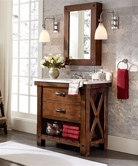 rustic medicine cabinet weathered industrial style