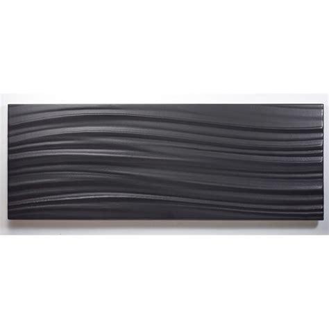 wall tiles johnson tiles 400 x 150mm charcoal wave satin tones wall