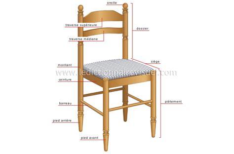 mesure d une chaise maison gt ameublement de la maison gt chaise gt image dictionnaire visuel