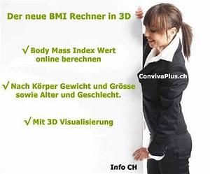 Normalgewicht Berechnen : bmi rechner online body mass index in 3d info ch ~ Themetempest.com Abrechnung