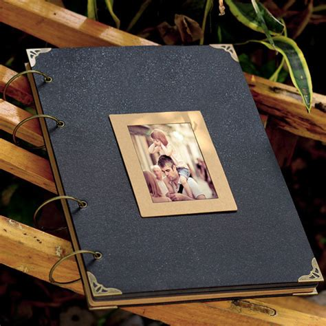 large ring binder photo album 76 pages kraft