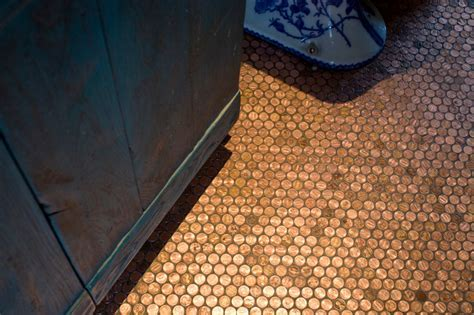 Copper Penny Floor Tile   Eclectic   Phoenix   by Alpentile