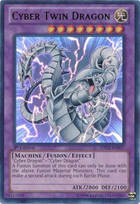 cyber twin dragon sdcr en037 ultra rare 1st edition