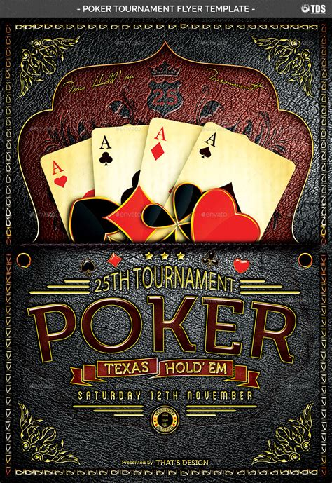 Poker Tournament Flyer Template Lou Graphicriver