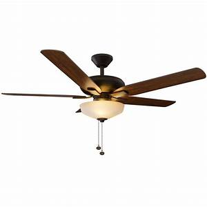 Hampton bay holly springs in led oil rubbed bronze ceiling fan with light kit the