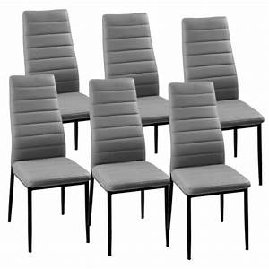 Chaise C Discount : lot de 6 chaises gris iris achat vente chaise gris cdiscount ~ Teatrodelosmanantiales.com Idées de Décoration