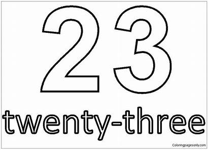 Number Twenty Three Pages Coloring Coloringpagesonly