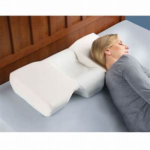 the neck pain relieving pillow hammacher schlemmer With back pain from pillow