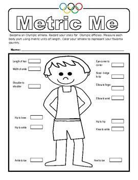 Here's A Measurement Activity Where Students Measure Their Body Parts In Metric Units Of Course