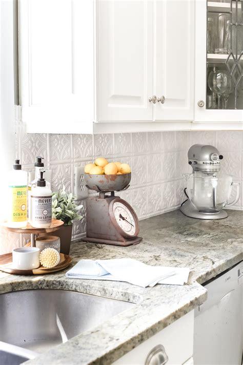 kitchen tin backsplash done wright home improvement diy pressed tin kitchen