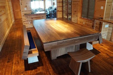 hand crafted dining pool table combination set  gerspach