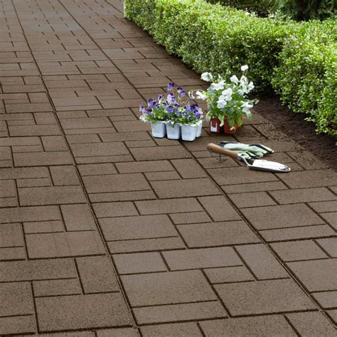 heavyweight recycled rubber pavers cobblestone