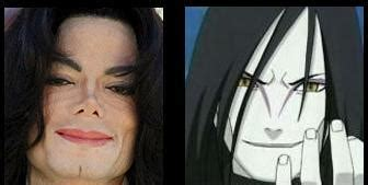 orochimaru  michael jackson twin anime jokes collection