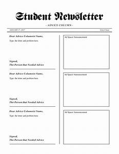 student newsletter with advice column template teacher39s With student newsletter templates free